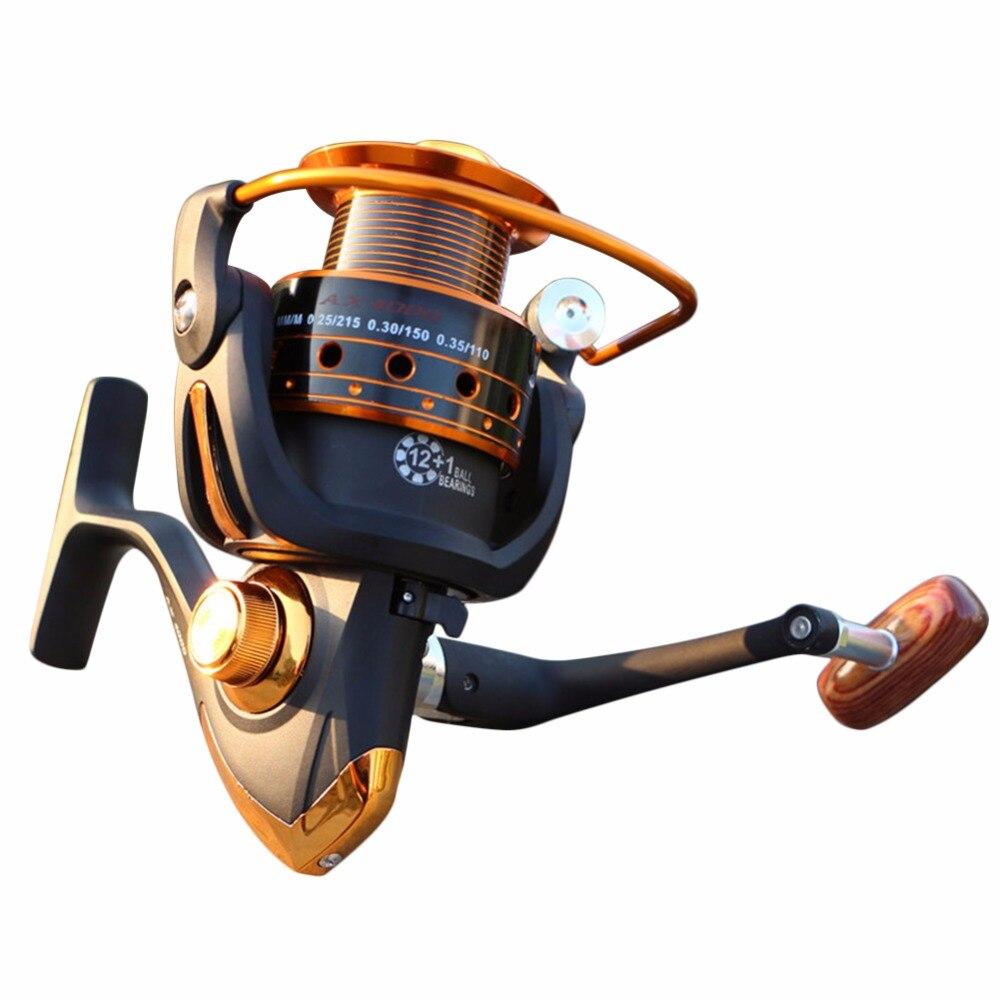 Yumoshi Bobine di Pesca Jigging Full Metal Bobine di Filatura EF1000-7000 12BB 5.2: 1 Bobine di Pesca di Filatura Attrezzi Da Pesca Accessori