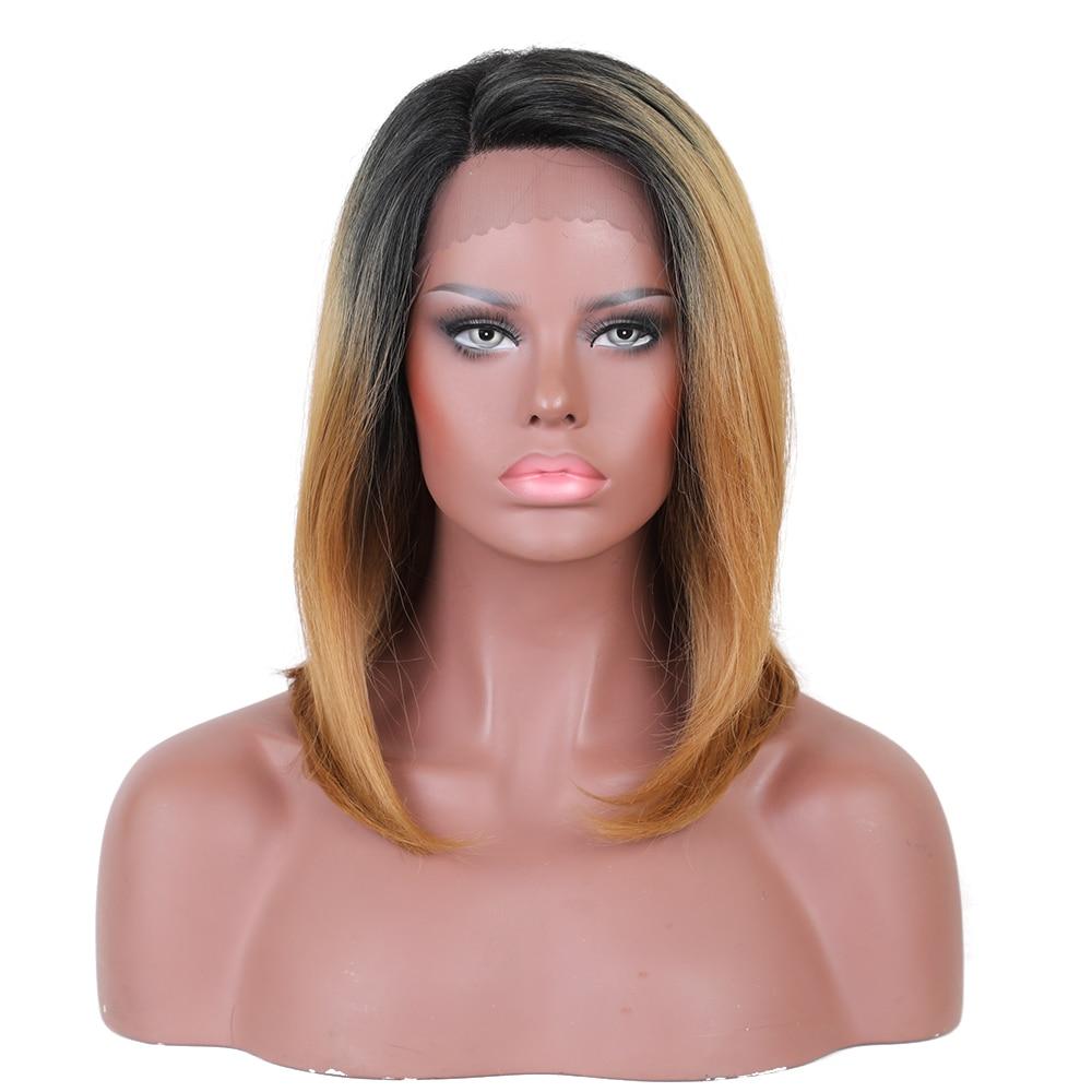 Στοιχείο Ombre Καφέ 1B / 27 # Περούκα 16 - Συνθετικά μαλλιά - Φωτογραφία 2