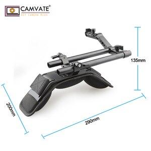 Image 2 - CAMVATE Camera Shoulder Mount Kit With Foam Shoulder Pad & Z Shaped Railblock Rail For DSLR Camera / DV Camcorder Support System