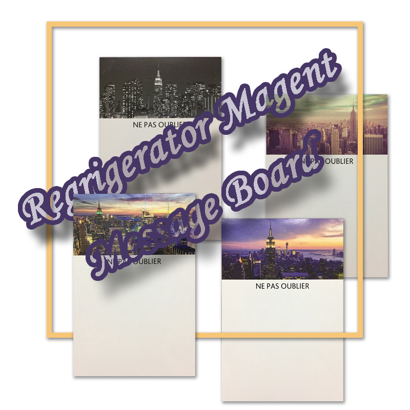 Fridge Magnet With Mark Pen New York Skyscrap Pattern Flexible Message Board Refrigerator Magnet Whiteboard imanes de nevera