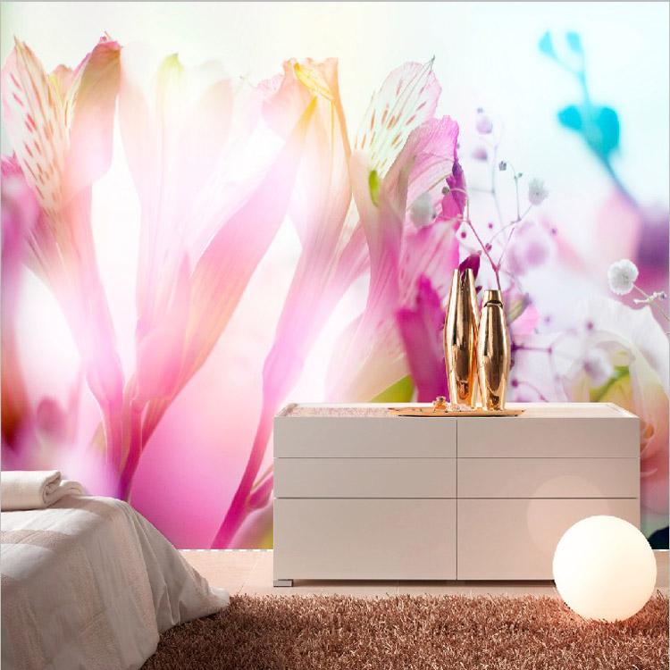 Warm Romantic Foto Tapete Dreidimensionale Lila Farbe Fr Wohnzimmer Wandverkleidung