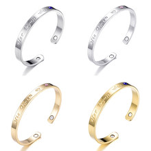 His Queen Her King Black Silver Gold Color Women Man Chain Crystal Couple Bracelets Charm Bangles Jewelry Gift 3 Style(China)