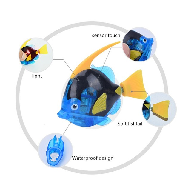 New Luminous Electric Fish Robots Swimming Electronic Energy Ornamental Fish For Aquarium Decoration LH8s