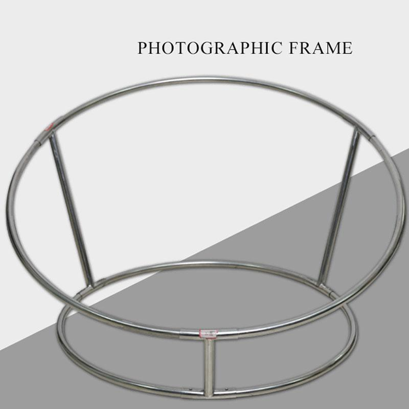 Newborn Photography Props Posing Steel Pipe Frame Steel Sofa Bebe Accessoires Photographiques Newborn Posing Nest Round Shelf(China)