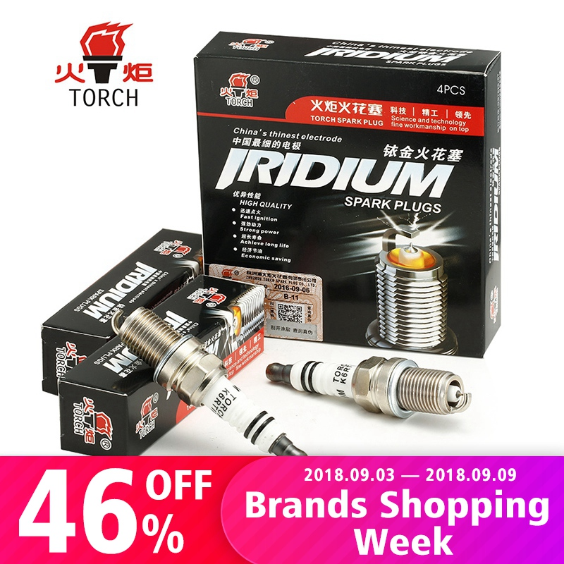 4pcs/lot China original TORCH Iridium Platinum spark plugs