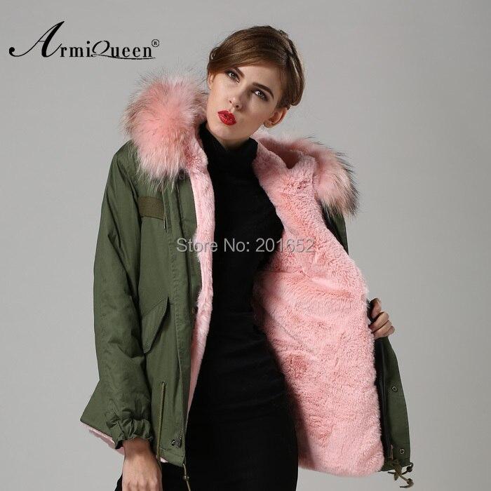 Luxe femmes hiver fausse fourrure chaud court manteau veste Outwear avec fourrure de raton laveur garniture S-XXL c0153