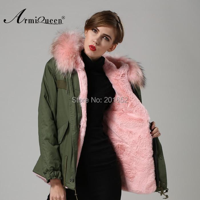 Luxury Women Winter Faux Fur Warm Short Coat jacket Outwear with Raccoon Fur Trim S XXL c0153