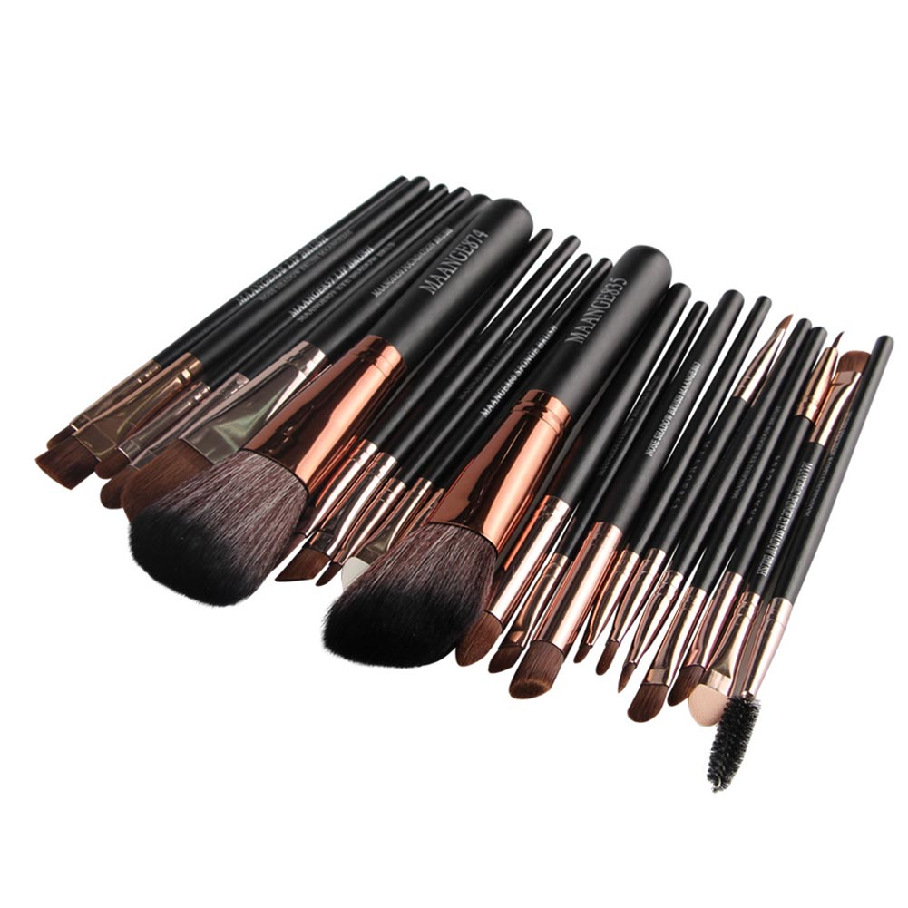 22 Pcs Professional Makeup Brush Set Blusher Eyeshadow Powder Foundation Eyebrow Lip Cosmetic Brushes Tool Kits H7JP professional 22pcs cosmetic makeup brushes set blusher eyeshadow powder foundation eyebrow lip make up brush kit