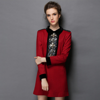 Women S Slim Fit Long Sleeved Embellished Sequined Pattern Luxe Winter Dress Size S 5XL