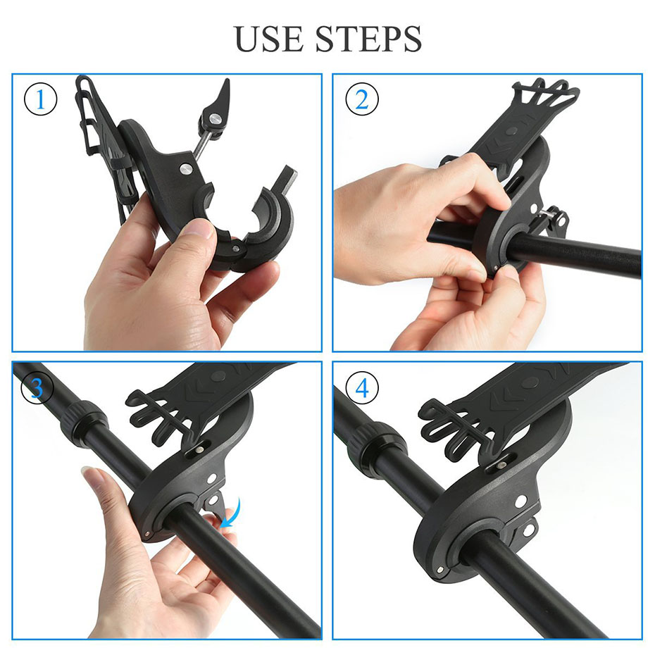 360 Degree Rotation Bicycle Phone Holder For Iphone X Iphone 8 Smartphone  Bike Handlebar Mount Bracket  Navigation Stand Holder (10)