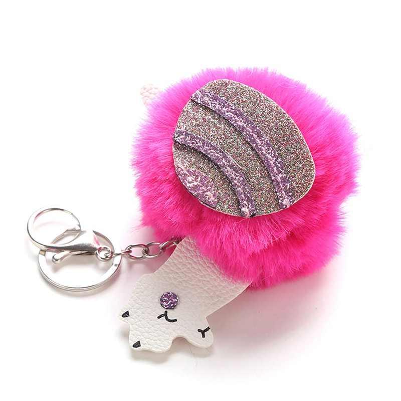 ... 1PC PU Alpaca Plush Keychain Bag Pendant Pompom Cute Handmade Women s  Bags Key Ring Jewelry Ornament ... bcbd84312