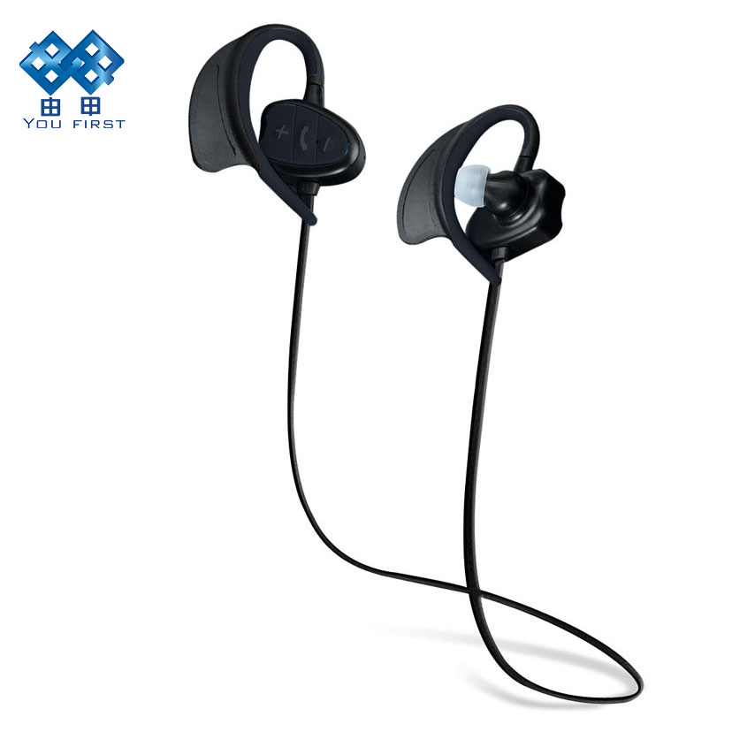 Wireless Bluetooth Earphones Waterproof Noise Cancelling Headsets Stereo With Microphone Neckband Sports Swimming IPX8 2016 white and black joway h 08 wireless noise cancelling voice control sports stereo bluetooth v4 0 earphones with microphone