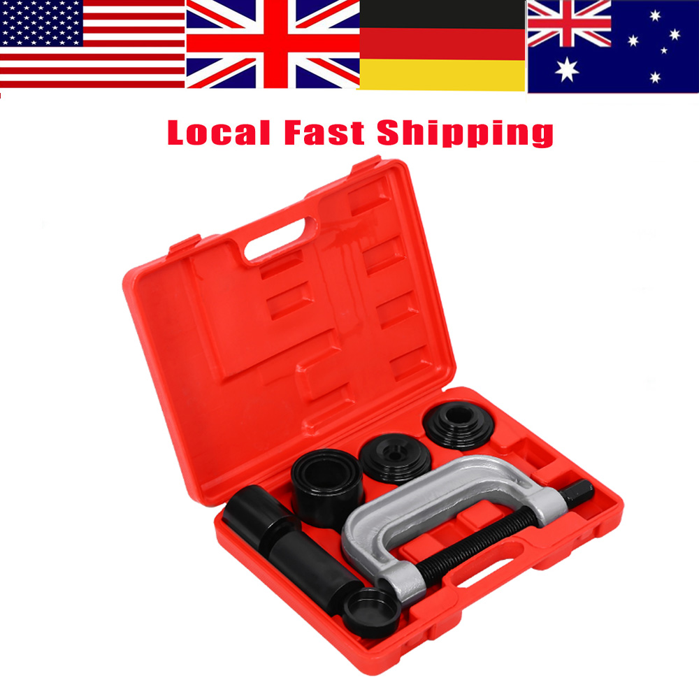 New 4 in 1 Ball Joint Auto Remover Installer Tool Service 2 & 4WD Auto Repair Brake Ball Joint C Frame Press Service Kit