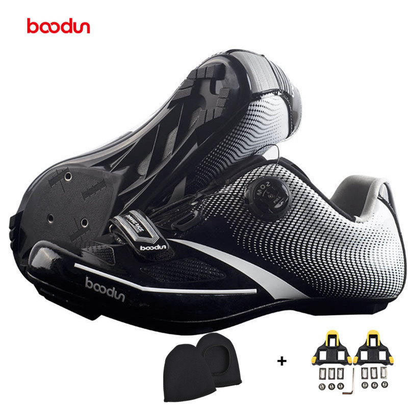 BOODUN Cycling Shoes New 2018 Men Professional Road Bike Shoes Anti-slip Self-locking Sports Racing Shoes Sapatos de ciclismo santic new design cycling shoes men outdoor road bike shoes self locking shoes non slip bicycle shoes sapatos with 3 colors