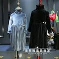 2016 produtos Europeus usam roupas de inverno meninas novas estilo ocidental vestido plissado espessamento apoio de veludo espessamento frete grátis