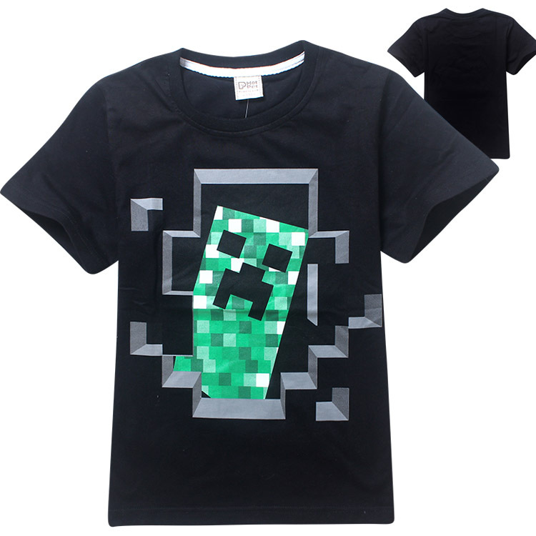 Z&Y 6-14Years Nununu 2017 Summer Legoes Shirt Teenage Boys Clothing Kids Fashion Top Girl Teen Clothes Childrens T-shirts 8082