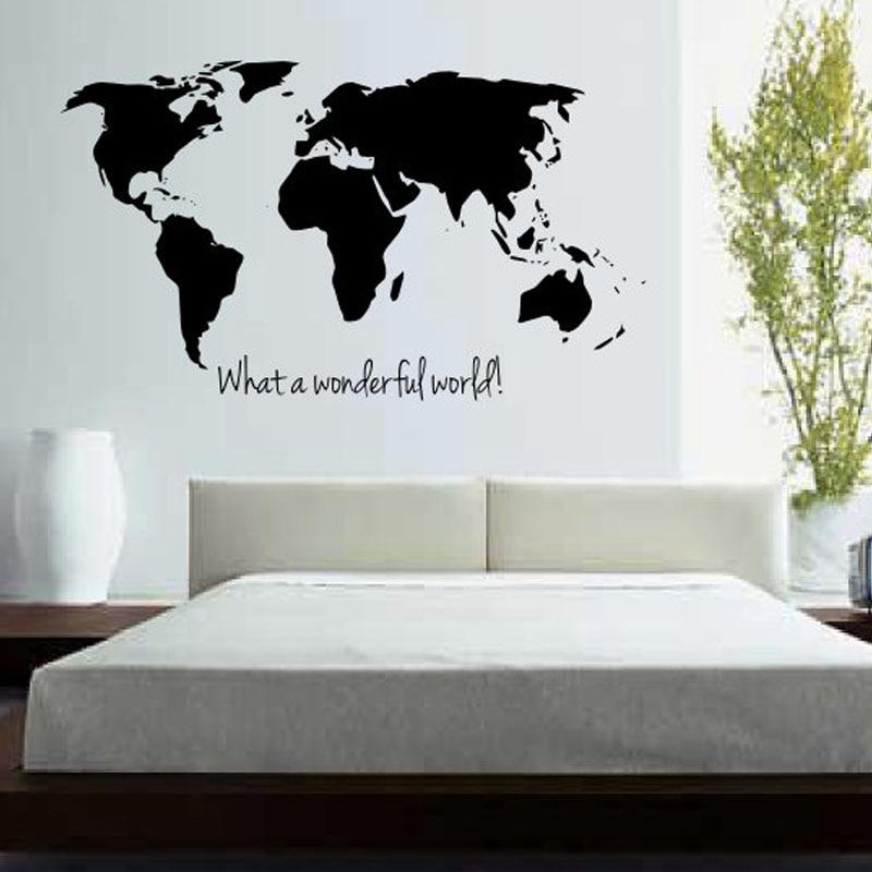 BucKoo hot adesivi murali Che Meraviglioso Mappa Del Mondo Parete ...