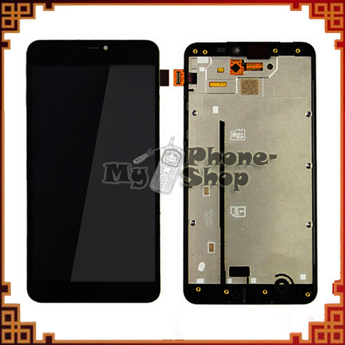 10pcs/lot Lumia 640 Xl Lcd For Nokia 640xl Lcd Display With Touch Screen Complete Black + Frame Free Shipping By Dhl Ems