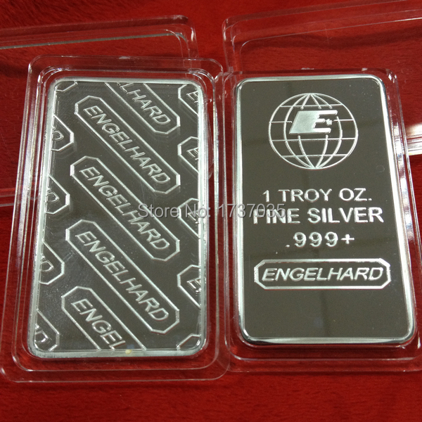 5 Pcs Lot Hot Sale Engelhard Bullion Bar 1 Troy Ounce Fine