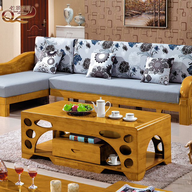 New Chinese Wood Minimalist Living Room Coffee Table Small Apartment 1.2 M  Double Black Walnut 2