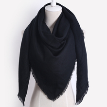 Brand Designer Winter Scarf For Women Cashmere  Fashion Warm Solid color Triangle Shawl  Soft Wool Blanket Wholesale Dropshippin
