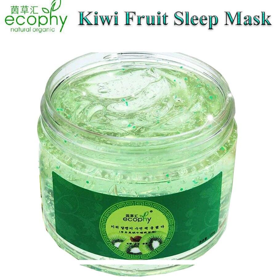 2017 Kiwi Fruits Escargots Sommeil Masque Jetable Hydratant Masque Anti Vieillissement Rides Hydratant Visage Masque Traitement de L'acné Soins de La Peau