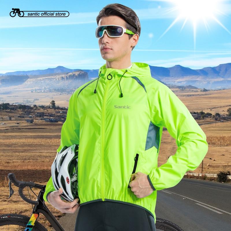 6dea10cb404 Santic Men Cycling Skin Coat + Cycling Jackets Windproof Small Rain  Waterproof Sun