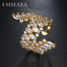 EMMAYA New Women Adujustable Ring AAA White CZ Ring Fashion Wedding Ring Party Jewelry Freeship