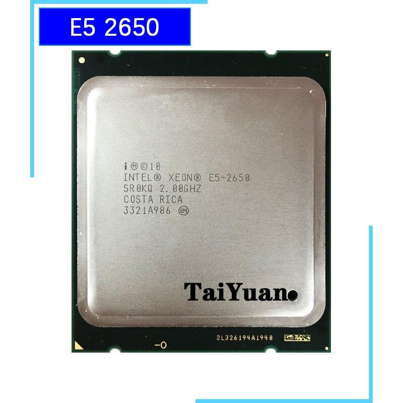 Intel Xeon E5-2650 E5 2650 2.0 GHz Eight-Core Sixteen-Thread CPU Processor 20M 95W LGA 2011
