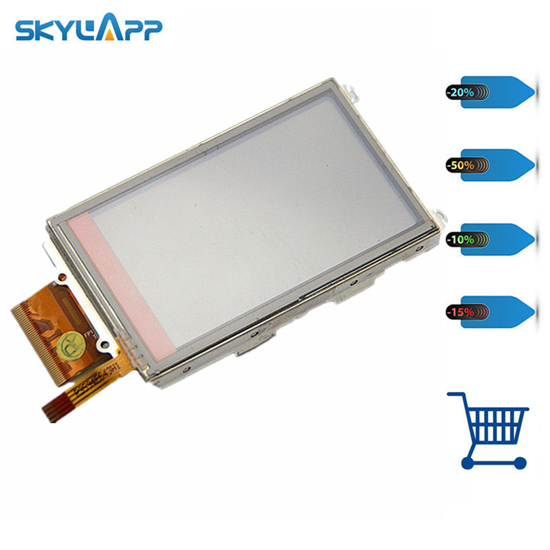 все цены на Skylarpu 3 inch LCD panel For GARMIN OREGON 450 450t Handheld GPS LCD display + touch screen digitizer Free shipping онлайн
