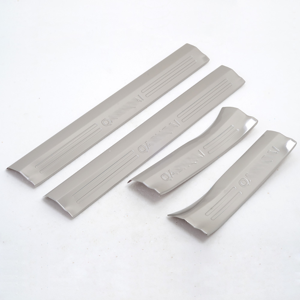 4pcs Door Sill Scuff Plates Car Accessories Stainless steel Interior Pedals Cover For Nissan Qashqai 2018 2017 2016 2015 2014 for hyundai santa fe ix45 2013 stainless steel 4pcs door sill step scuff plates