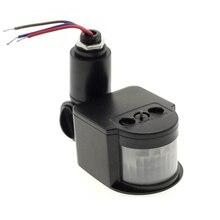 Светодиодный датчик движения 220V 85 V-265 V автоматический инфракрасный PIR инфракрасный детектор вращающийся на 180 градусов уличный Таймер Датчик Движения
