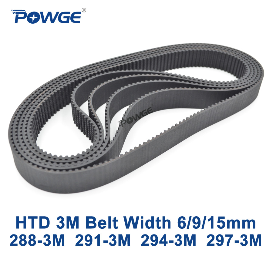 POWGE Arc HTD 3M Timing belt C= 288 291 294 297 width 6/9/15mm Teeth 96 97 98 99 HTD3M synchronous 288-3M 291-3M 294-3M 297-3MPOWGE Arc HTD 3M Timing belt C= 288 291 294 297 width 6/9/15mm Teeth 96 97 98 99 HTD3M synchronous 288-3M 291-3M 294-3M 297-3M