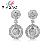 XIAGAO Delicate Luxury Sparkling Cubic Zirconia Statement Brincos Dangle Earrings For Women Bridal Wedding Party Jewelry