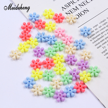 Plastic Flower Snowflake Beads Two Types light color Hexagonal beads for needlework DIY Bracelets Necklace accessories 40g/bag