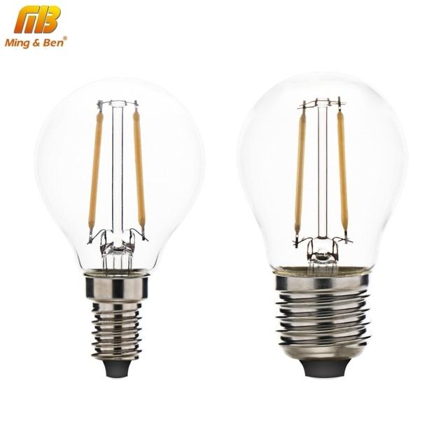 E27 E14 LED Filament Bulb Lampada LED 220V Bombillas Edison COB Bulb A60 G45 C35 Candle Light 4W 6W 8W 360Degree Bombillas Decor