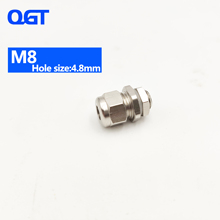 IP68 M8 водонепроницаемый металлический кабельный сальник, латунный кабельный сальник, непогодостойкий кабельный сальник