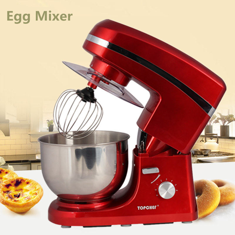 Home Use 5L Stainless Steel Bowl Electric Kneading Dough Machine Dough Mixer Cooking Blender Machine Bread Dough Stand Mixer mtj practical dough machine high quality bread dough cutter and rounder machine dough ball making machine 220v 380v 1pc