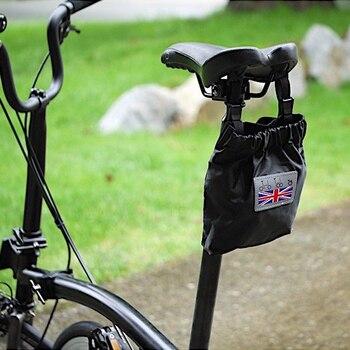 455b6e47574 AGEKUSL resistente al agua bicicleta bolsas para Brompton Bicycle traseros  plegables silla frente manillar bolsas de las maletas de la hebilla  magnética ...