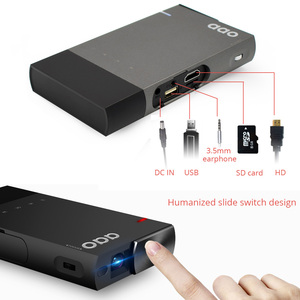 Image 3 - AAO 5200mAh DLP A1 Portable S1 Mini Projector 2000Lumens Sync Wired Display For IOS Android Phone 1080P Home Theater HDMI USB