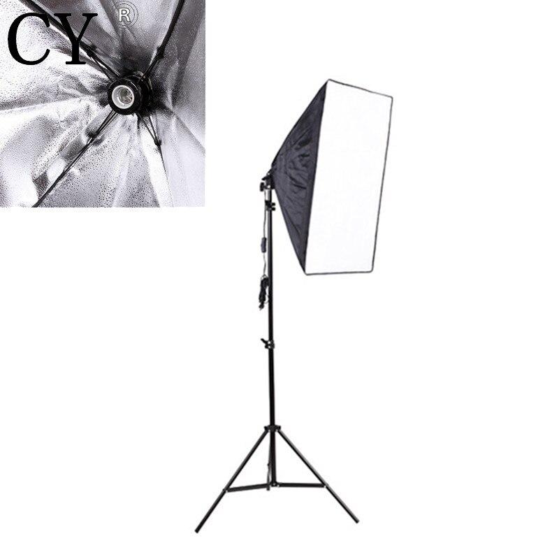 Lightupfoto Professional 220V Portable 50cm x 70cm Photo Studio softbox with Studio Photography 200cm Light Stand Kits PSK15
