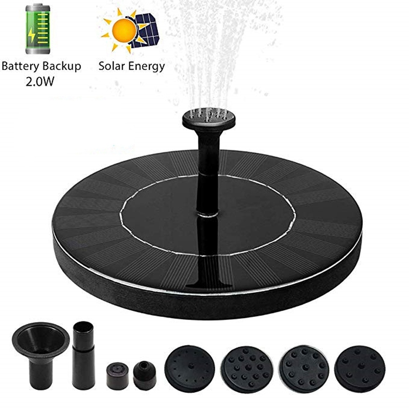 Solar-Fountain-Pump Solar-Panel-Kit Battery-Backup Garden High-Water New With Strong-Pressure