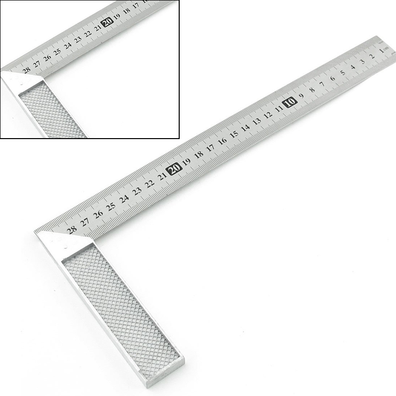 New Stainless Steel Right Measuring Rule Angle Square Ruler For Woodworking Measure Tools sosw 150 x 300mm stainless steel metric try square ruler