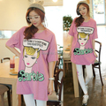 FSJ Beauty Character Barbie Letters Print Cotton T-shirts Dress Women Plus Size Loose Casual Tee Camisas Vestidos Good Quality