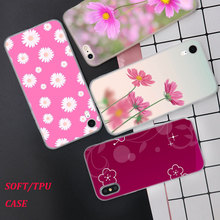 Silicone Case Cute flowers art Printing for iPhone XS XR Max X 8 7 6 6S Plus 5 5S SE Phone Matte Cover