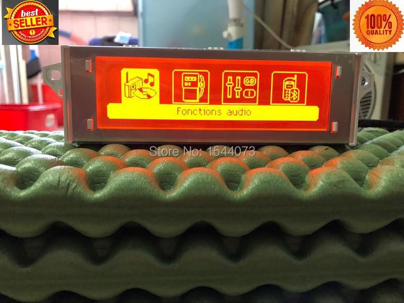 Vente chaude!!!!! Rouge écran support USB Bluetooth 4 menu Affichage Rouge moniteur 12 broches pour Peugeot 307 407 408 citroen C4 C5