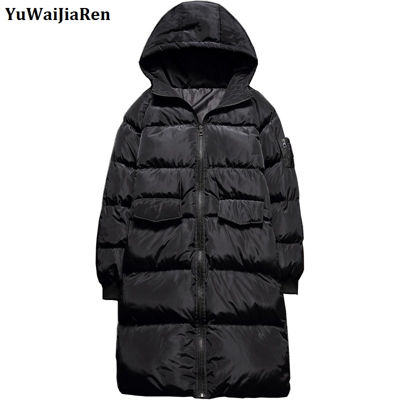 YuWaiJiaRen Long Coat Men Winter Fashion Casual Brand Thick Warm Mens Parkas Hooded Jacket Plus Size 5XL new 2016 winter men coat brand clothing casual x long hooded thick warm down jacket parkas men overcoats size s xxxl