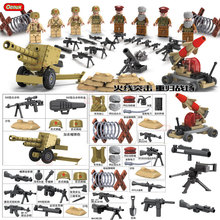 WW2 Exército Soviético Oenux Nova Chegada VS Oriente médio Exército Militar Building Block Toy Militar Soldados Figura Brinquedos Prédio de Tijolos