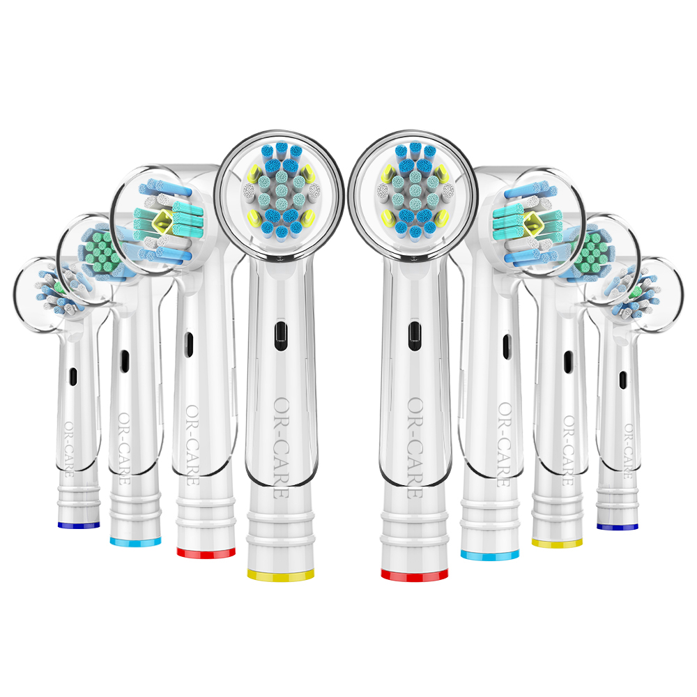 8 PCS Variety Replacement Toothbrush Heads For Oral B Braun Heads With Toothbrush Head Cover Fits Oral-B Electric Toothbrush
