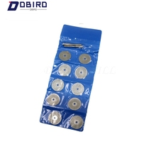 10PCS 22mm Carbon Steel Grinding Circular Saw Cutting Disc Dremel Rotary Tool Diamond Dremel Accessories w/ 2pcs Mandrel